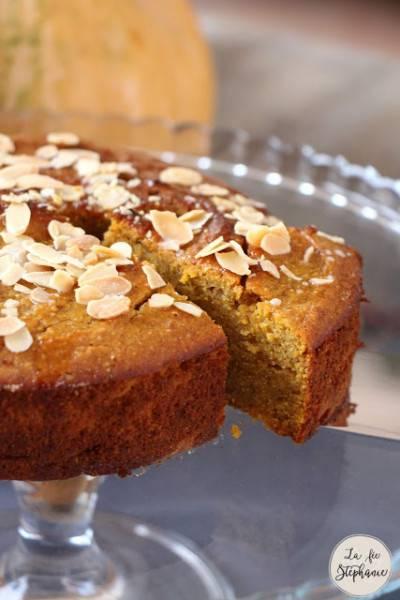 Gâteau courge-carotte-noisette