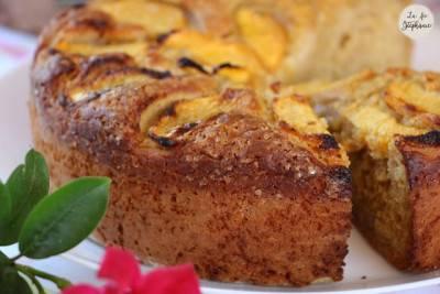 Gâteau à la pêche et au yaourt