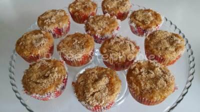 Muffins à la pomme + cannelle + amandes