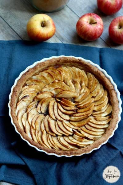 Tarte aux pommes, cannelle et caramel