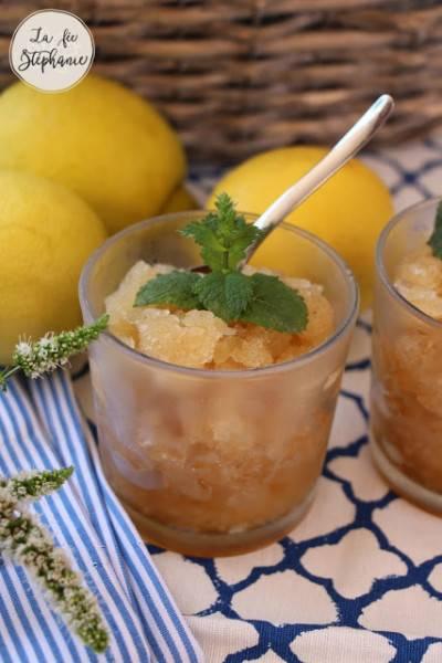 Granité au citron sans sorbetière