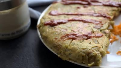 Omelette végane champignons-patates