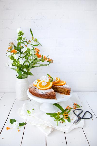 Gâteau à l'orange, épeautre et avoine