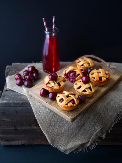 Tartelettes aux cerises façon cherry-pie