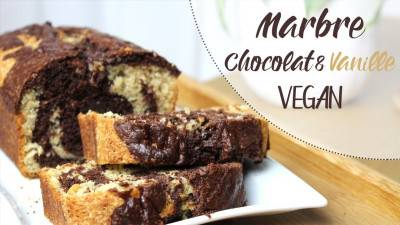Marbré végan chocolat vanille