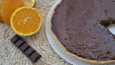 Tarte à l'orange et au chocolat