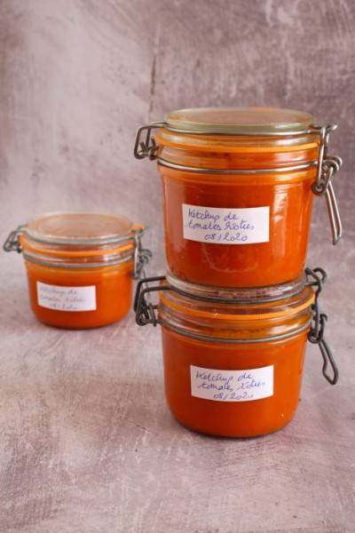 Ketchup maison aux tomates rôties
