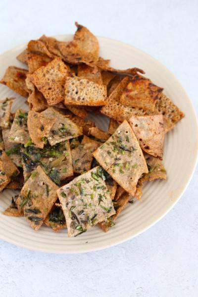 Chips de sarrasin au four