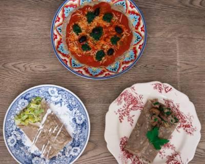 Trio de galettes bretonnes : champignons, poireaux ou façon pizza