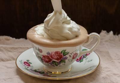 Crème chantilly végane au siphon
