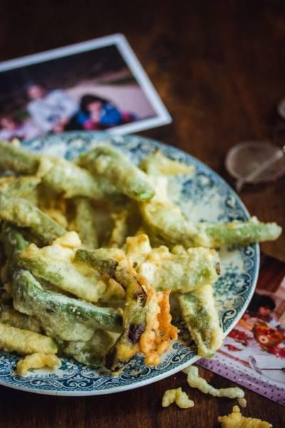 Beignets de haricots coco plats