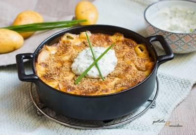 Gratin de pommes de terre à la crème de ciboulette