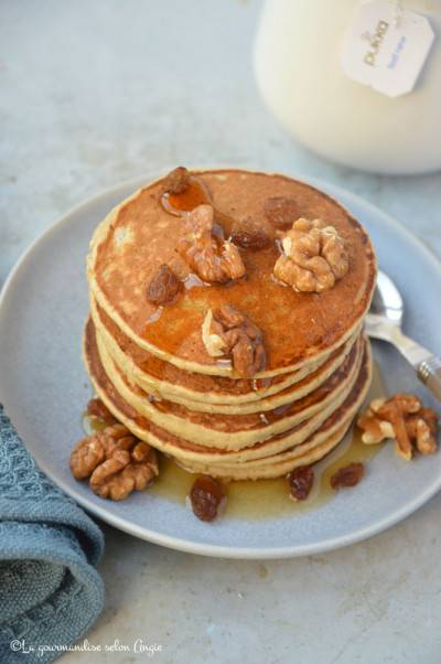 Pancakes végans à la banane et aux flocons d'avoine