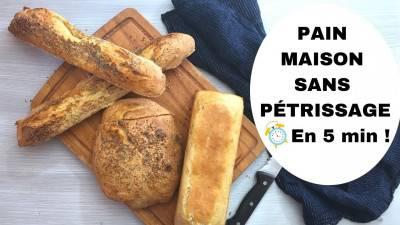 Baguette et pain maison en 5 minutes