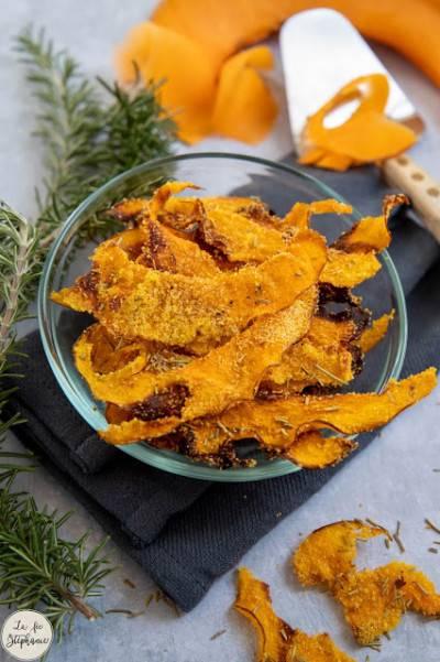 Chips de potiron aux herbes