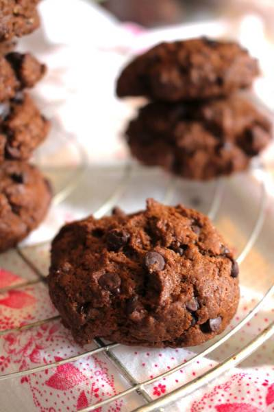 Cookies au chocolat, gourmands et à IG bas
