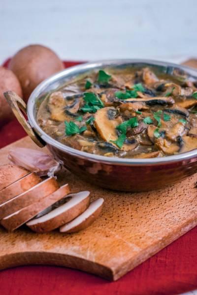 Curry indien aux champignons