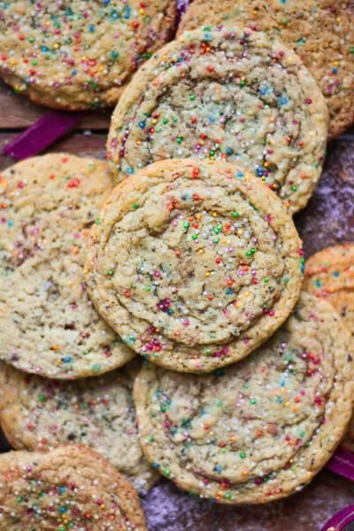 Cookies végans géants et multicolores
