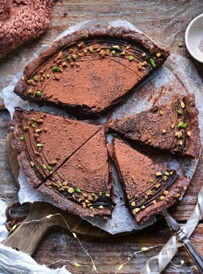 Tarte au chocolat sans gluten et sans four