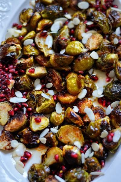 Choux de Bruxelles rôtis sucrés salés