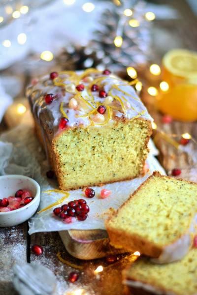 Cake à l'orange et aux graines de pavot