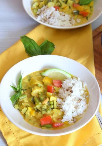 Curry de légumes d'été