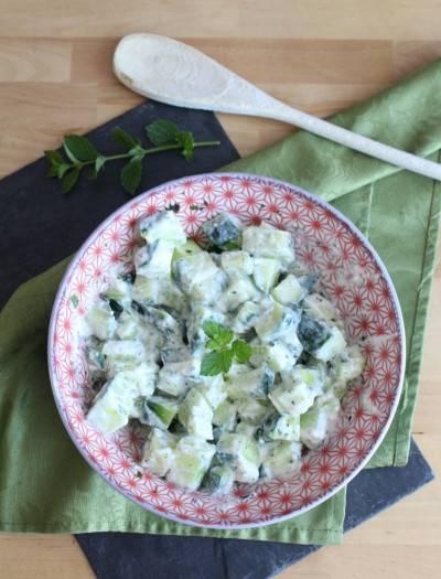 Salade de concombre façon tzatziki