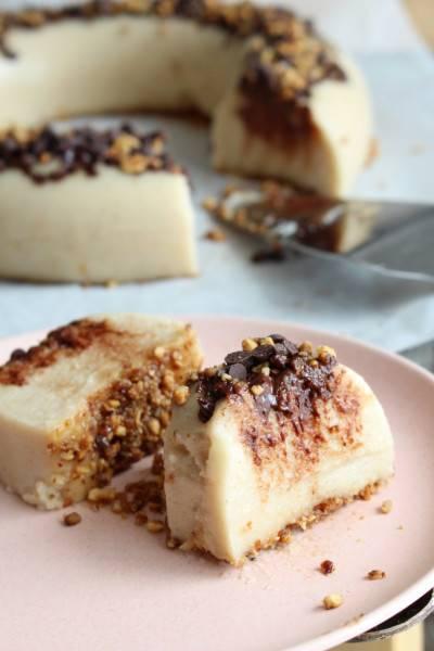 Gâteau de semoule au pralin et au chocolat