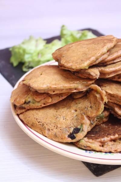 Pancakes salés végans aux légumes