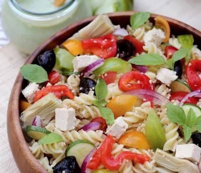 Salade de pâtes au pesto