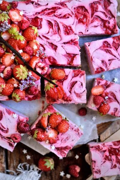 Cheesecake citronné aux fraises