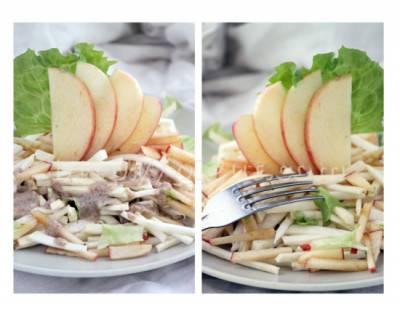 Salade de céleri-rave et pomme au miso