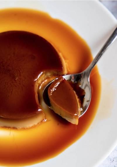 Crème caramel sans œufs