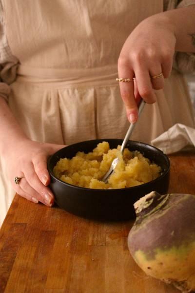 Purée de rutabaga aux épices et sirop d'érable