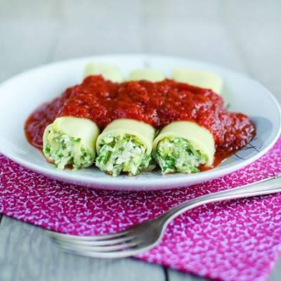 Cannelloni à la courgette et au tofu