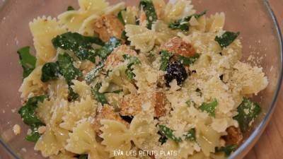 Salade de pâtes au tofu rosso