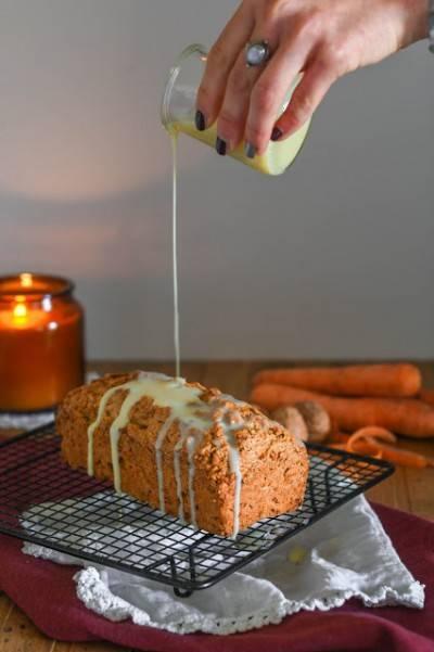 Carrot cake végan aux noix