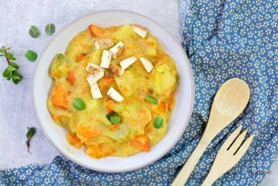 Ragoût de légumes à la polenta