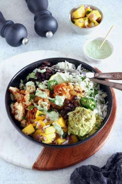 Buddha bowl façon burrito