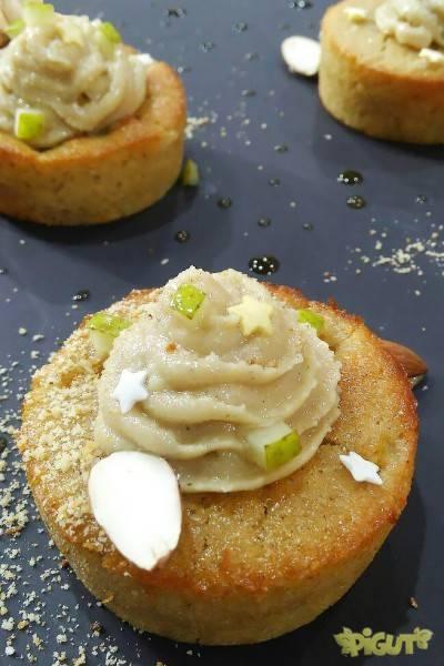 Cupcakes à la poire au topping d'amandes