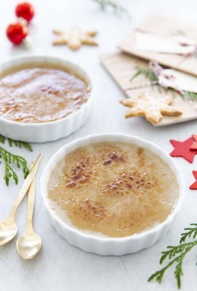 Crème brûlée à la crème de soja