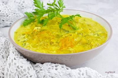 Fondue de poireaux végane au curry