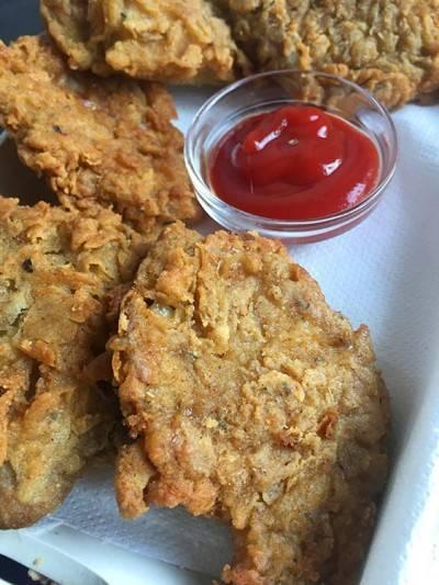 Beignets de pleurotes façon poulet KFC