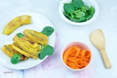 Banane plantain rôtie