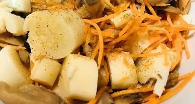 Salade de cœurs de palmier sucrée salée