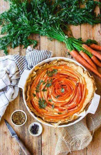 Tarte végane à la carotte