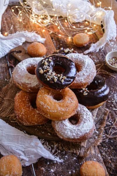 Donuts végans à la cannelle