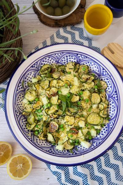 Salade de semoule légumes verts - menthe