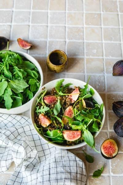 Salade de lentilles et roquette à la figue