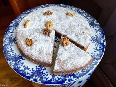 Gâteau aux noix végan